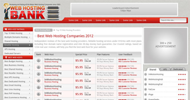 web hosting bank